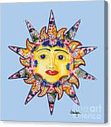 Talavera Sun-blue Canvas Print