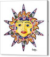 Talavera Sun Canvas Print