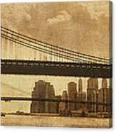 Tale Of Two Bridges Canvas Print