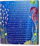 Tale-on-a-poster / The Baby Seahorse Canvas Print