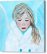 Talini Little Snow Angel Bringing Warmth On Cold Days Canvas Print