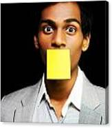 Talkative Forgetful Office Worker Canvas Print