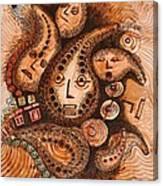 Talking Gourds   Canvas Print