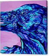 Talking Raven Canvas Print
