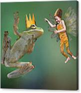 Talking With The Frog King Canvas Print