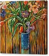 Tall Blue Vase Canvas Print