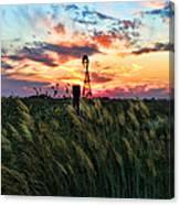 Tall Grass Windmill Canvas Print