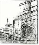 Tall Ship Assist Canvas Print