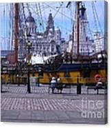 Tall Ship At Albert Dock Canvas Print