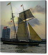 Tall Ship Chasing The Sun Canvas Print