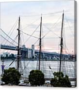 Tall Ship Gazela At Penns Landing Canvas Print