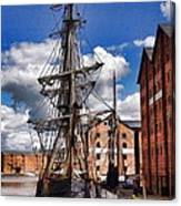 Tall Ship In Gloucester Docks Canvas Print