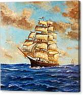 Tall Ship On The South Sea Canvas Print