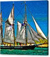 Tall Ship Paint  Canvas Print