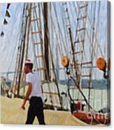 Tall Ship Sailor Duty Canvas Print
