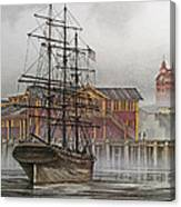 Tall Ship Waterfront Canvas Print