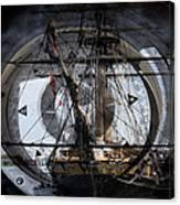 Tall Ship With Compass 2013 Canvas Print