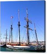 Tall Ships Big Bay Canvas Print