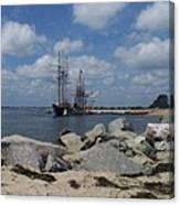 Tall Ships In The Distance Canvas Print