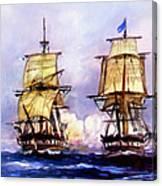 Tall Ships Uss Essex Captures Hms Alert  Canvas Print