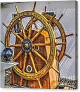 Tall Ships Wheel Canvas Print