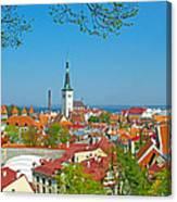 Tallinn From Plaza In Upper Old Town-estonia Canvas Print