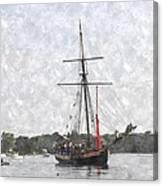 Tallship Providence Prwc Canvas Print