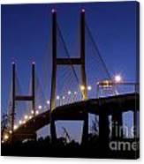 Talmadge Memorial Bridge Savannah Canvas Print