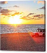 Tamarack At Sunset Canvas Print