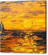 Tamarindo Sailboat Sunset Canvas Print