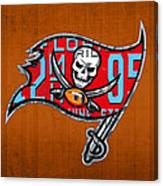 Tampa Bay Buccaneers Football Team Retro Logo Florida License Plate Art Canvas Print