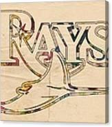 Tampa Bay Rays Logo Art Canvas Print