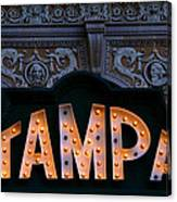 Tampa Theatre Sign 1926 Canvas Print