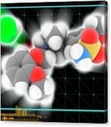 Tamsulosin Hydrochloride Molecule Canvas Print