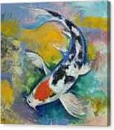 Tancho Sanke Koi Canvas Print