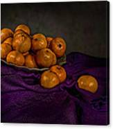 Tangerines In A Shell Platter Canvas Print
