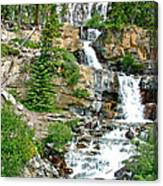Tangle Falls Along Icefield Parkway In Alberta Canvas Print