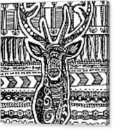 Tangled Deer Canvas Print