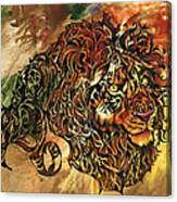 Tangled Lion Canvas Print