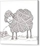 Tangled Sheep Canvas Print