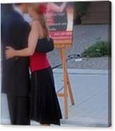Tango Dancing On The Street Canvas Print