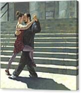 Tango On The Square Canvas Print