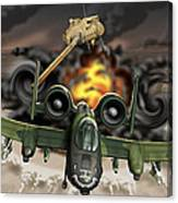 Tank Plinking With The A-10 Canvas Print
