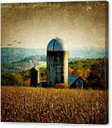 Tanner Hill Farm In The Fall Connecticut Usa Canvas Print