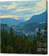 Tantalus Mountain Afternoon Landscape Canvas Print
