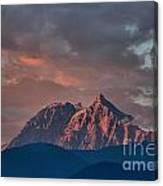 Tantalus Mountain Sunset - British Columbia Canvas Print
