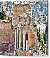 Taormina Amphitheater Canvas Print