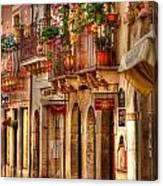 Taormina Balcony Canvas Print