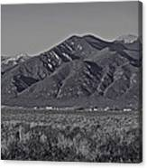 Taos In Black And White II Canvas Print