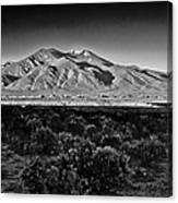 Taos In Black And White X Canvas Print